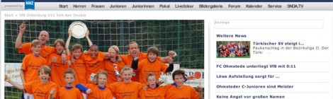 Presseberichte zum Doublesieg in der U12