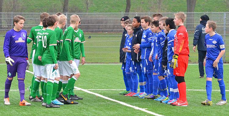 VfB U14 mit guter Leistung gegen Werder